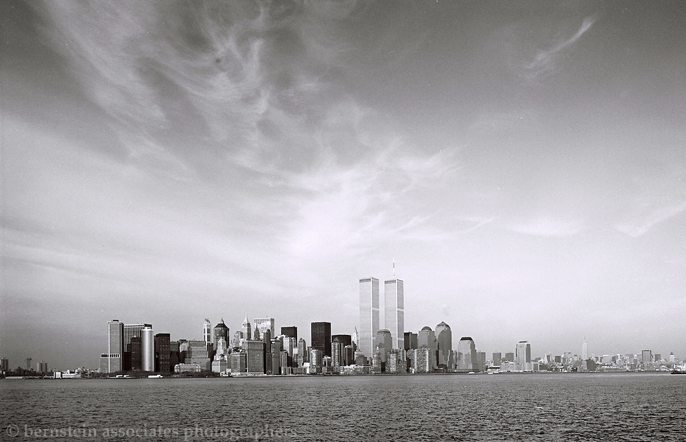 A view of Manhattan's skyline with the Twin Towers.  Photographerd January 30, 1995.