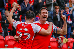 Richard Wood of Rotherham United celebrates his goal with Joe Newell of Rotherham United - Mandatory by-line: Ryan Crockett/JMP - 07/04/2018 - FOOTBALL - Aesseal New York Stadium - Rotherham, England - Rotherham United v Fleetwood Town - Sky Bet League One
