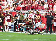 Nov 11, 2018; Tampa, FL USA: Washington Redskins cornerback Josh Norman (24) gets tackled after intercepting a pass against the Tampa Bay Buccaneers in the first quarter at Raymond James Stadium. The Redskins beat the Buccaneers 16-3. (Steve Jacobson/Image of Sport)