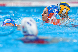 21-01-2020 HUN: European Water polo Championship, Budapest <br /> Slovakia - Netherlands 2—32 / Dagmar Genee #3 of Netherlands during LEN European Aquatics Waterpolo on January 21, 2020. SVK vs Netherlands in Duna Arena in Budapest, Hungary
