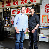 juwai.com founders Simon Henry and Andrew Taylor of Australia pose for a portrait in Wan Chai on 19 June 2013 in Hong Kong, China. Photo by Victor Fraile / studioEAST