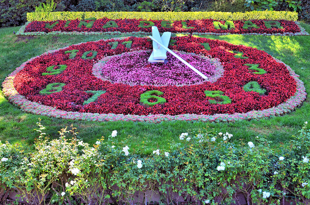 Flower Clock in Vi&ntilde;a del Mar, Chile<br />