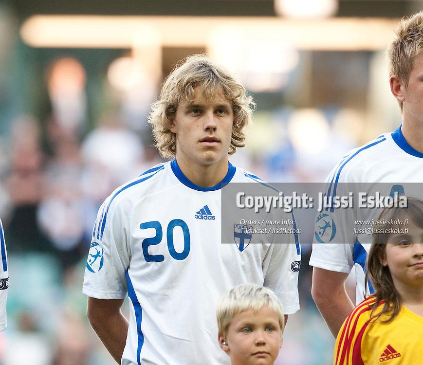 Teemu Pukki. Suomi - Espanja. Alle 21-vuotiaiden EM-turnaus, Gamla Ullevi, Göteborg, Ruotsi 22.6.2009. Photo: Jussi Eskola