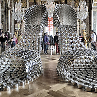 """Shoes"" exhibit in Chataeau de Versailles by artist Joana Vasconcelos"