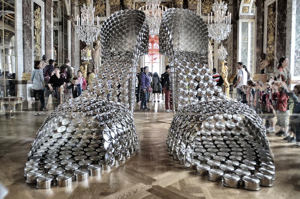 """""""Shoes"""" exhibit in Chataeau de Versailles by artist Joana Vasconcelos"""