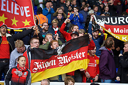 LONDON, ENGLAND - Saturday, October 17, 2015: Liverpool supporters banner 'Jürgen Meister' before the Premier League match against Tottenham Hotspur at White Hart Lane. (Pic by David Rawcliffe/Kloppaganda)