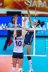16-10-2018 JPN: World Championship Volleyball Women day 17, Nagoya<br /> Netherlands - China / Ting Zhu #2 of China