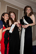 LUCY MARRIOTT; IRENE RAMSAY; ANASTASIA JONE, The Royal Caledonian Ball 2011. In aid of the Royal Caledonian Ball Trust. Grosvenor House. London. W1. 13 May 2011.<br /> <br />  , -DO NOT ARCHIVE-© Copyright Photograph by Dafydd Jones. 248 Clapham Rd. London SW9 0PZ. Tel 0207 820 0771. www.dafjones.com.
