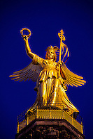 Viktoria (Golden Victory) atop 69m high Victory Column, Siegessaule, Tiergarten, Berlin, Germany