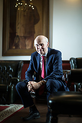 © Licensed to London News Pictures. 15/03/2018. Manchester, UK. Liberal Democrat leader SIR VINCE CABLE and the only non-Labour member of Manchester City Council, John Leech, host a question on answer session with media on housing, at The St James's Club in Manchester City Centre . It's been reported that none of the 14,667 homes in big developments granted planning permission in the city over the last two years are set to be affordable homes. Photo credit: Joel Goodman/LNP