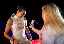September 30, 2018 - Caroline Garcia of France on the red carpet at the 2018 China Open WTA Premier Mandatory tennis tournament players party (Credit Image: © AFP7 via ZUMA Wire)