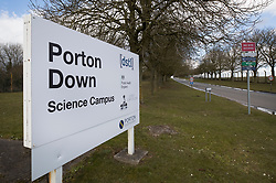 © Licensed to London News Pictures. 07/03/2018. Salisbury, UK. Porton Down - a government facility where it is thought that scientists have been involved in the case of suspected poisoning of former Russian spy Sergei Skripal who has become ill, along with his daughter Yulia, in Salisbury, England. The couple where found unconscious on bench in Salisbury shopping centre. Specialist units have been called in to deal with any possible contamination. Photo credit: Peter Macdiarmid/LNP