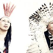 Putany Yawanawa première femme chamane au Brésil et son époux Biraci Nichiwaka Yawanawa leader du peuple Yawanawa Acre Brésil |  Putany Yawanawa first woman chamane in Brazil and and her husband Biraci Nichiwaka Yawanawa leader of the people Yawanawa Acre Brazil