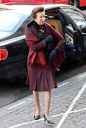 Princess Royal arriving to sign a book of condolence at South Africa House in London, Friday, 6th December 2013, following the death Nelson Mandela, Picture by Stephen Lock / i-Images