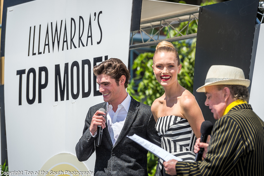 L-R RJ Mitte &amp; Australian model Kitta Jones.<br />