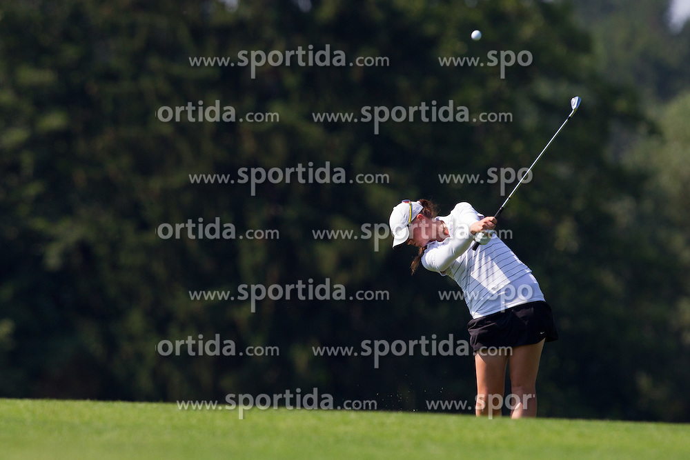 Urska Orehek of Slovenia during golf competition in day 3 of International European Ladies Amateur Championship 2012, on July 27, 2012 in Smlednik at Ljubljana, Slovenia. (Photo by Grega Valancic / Sportida)