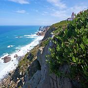 The Sintra coastline at Cabo da Roca on a perfect summer day