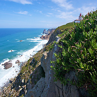 The Sintra coastline at Cabo da Roca on a perfect summer day