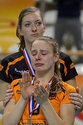 21-02-2016 NED: Bekerfinale Eurosped TVT - Set Up 65, Almere<br /> Eurosped pakt de beker door Set Up in de finale met 3-1 te verslaan / Teleurstelling bij Jorinda Kremer #9