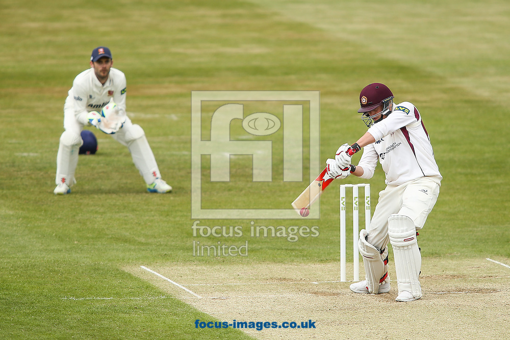 Josh Cobb of Northamptonshire (right) during the LV County Championship Div Two match at the County Ground, Northampton<br /> Picture by Andy Kearns/Focus Images Ltd 0781 864 4264<br /> 08/06/2015