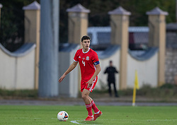ORHEI, MOLDOVA - Friday, October 11, 2019: Wales' captain Jack Evans during the UEFA Under-21 Championship Italy 2019 Qualifying Group 9 match between Moldova and Wales at the Orhei District Sports Complex. (Pic by Kunjan Malde/Propaganda)