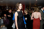 Keira Knightley; following the press night of 'The Children's Hour' at Comedy Theatre. Afterparty Penthouse Leicester Sq. London. 9 February 2011. -DO NOT ARCHIVE-© Copyright Photograph by Dafydd Jones. 248 Clapham Rd. London SW9 0PZ. Tel 0207 820 0771. www.dafjones.com.