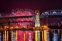 Burrard Bridge & False Creek, Celebration of Light 2017