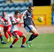 Dundee&rsquo;s Tom Hateley and Kilmarnock&rsquo;s Adam Frizzell - Dundee v Kilmarnock in the Ladbrokes Scottish Premiership at Dens Park, Dundee. Photo: David Young<br /> <br />  - &copy; David Young - www.davidyoungphoto.co.uk - email: davidyoungphoto@gmail.com