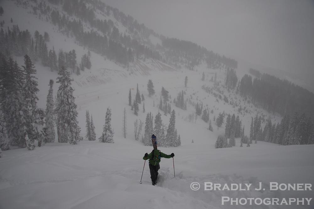 Skiing on Teton Pass