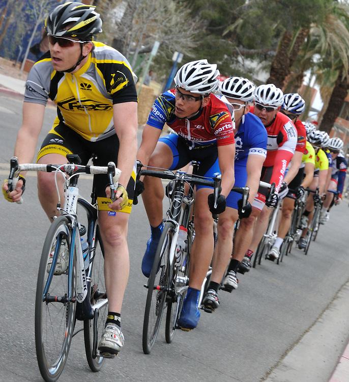 Rider paceline in the 2011 UA Criterium bicycle race, Tucson, Arizona. Bike-tography by Martha Retallick.