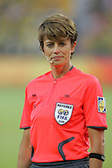 21 August 2008: Fourth Official Kari Seitz (USA). Germany's Women's National Team defeated Japan's Women's National Team 2-0 at the Worker's Stadium in Beijing, China in the Bronze Medal match in the Women's Olympic Football tournament.