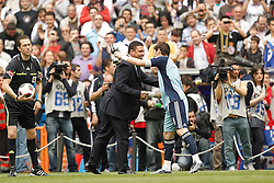 02.04.2011, Estadio Santiago Bernabeu, Madrid, ESP, Primera Division, Real Madrid vs Sporting Gijon, im Bild Ronaldo Nazario ex Real Madrid player, honoured  during la Liga match on March 2nd 2011. EXPA Pictures © 2011, PhotoCredit: EXPA/ Alterphotos/ Cesar Cebolla +++++ ATTENTION - OUT OF SPAIN / ESP +++++