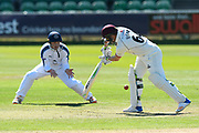 Dean Elgar of Somerset batting during the Specsavers County Champ Div 1 match between Somerset County Cricket Club and Hampshire County Cricket Club at the Cooper Associates County Ground, Taunton, United Kingdom on 26 May 2017. Photo by Graham Hunt.