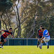 PORIRUA, NEW ZEALAND - 25 AUGUST: Action during the college rugby union game played on 25 August 2018, between Hastings Boys High School v St Patrick's Silverstream, played at Jerry Collins Stadium, Porirua, New Zealand. Hastings won 31-14.