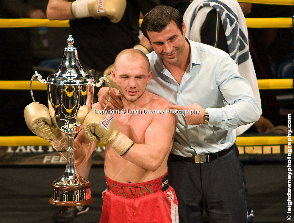 Gavin Rees with Joe Calzaghe at London Olympia -  Prizefighter Light Welterweights 4th December 2009 Credit: © Leigh Dawney Photography