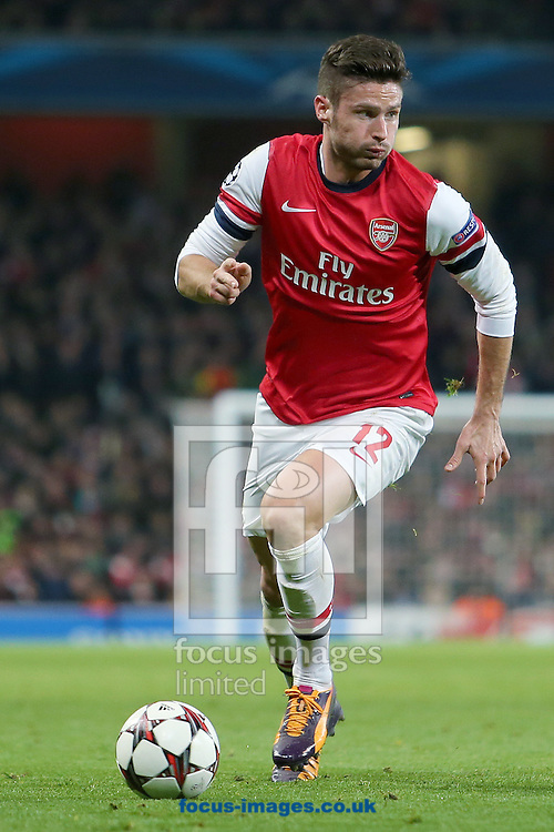 Picture by Richard Calver/Focus Images Ltd +447792 981244<br /> 26/11/2013<br /> Olivier Giroud of Arsenal during the UEFA Champions League match against Olympique de Marseille at the Emirates Stadium, London.