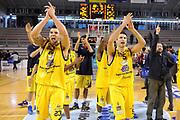 DESCRIZIONE : Ancona Lega A 2012-13 Sutor Montegranaro Angelico Biella<br /> GIOCATORE : Christian Burns Daniele Cinciarini<br /> CATEGORIA : esultanza<br /> SQUADRA : Sutor Montegranaro<br /> EVENTO : Campionato Lega A 2012-2013 <br /> GARA : Sutor Montegranaro Angelico Biella<br /> DATA : 02/12/2012<br /> SPORT : Pallacanestro <br /> AUTORE : Agenzia Ciamillo-Castoria/C.De Massis<br /> Galleria : Lega Basket A 2012-2013  <br /> Fotonotizia : Ancona Lega A 2012-13 Sutor Montegranaro Angelico Biella<br /> Predefinita :