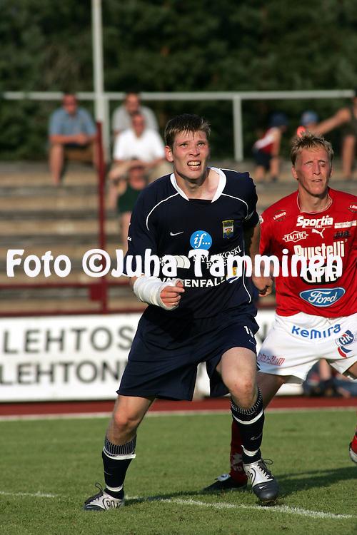 04.08.2004, Pori, Finland..Veikkausliiga 2004 / Finnish League 2004.FC Jazz v Myllykosken Pallo-47.Tuomas Aho - MyPa.©Juha Tamminen.....ARK:k