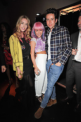 Left to right, MARY CHARTERIS, JAIME WINSTONE and NICK GRIMSHAW at a party to launch Esquire magazine's June issue hosted by new editor Alex Bilmes at Sketch, Conduit Street, London on 5th May 2011.
