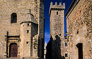 Caceres, medieval architecture. The city is Unesco World Heritage. San Mateo was traditionally the church of the local landlords.