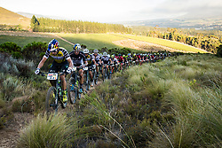 Henrique Avancini of Cannonade Factory Racing leads the bunch during stage 1 of the 2017 Absa Cape Epic Mountain Bike stage race held from Hermanus High School in Hermanus, South Africa on the 20th March 2017<br /> <br /> Photo by Nick Muzik/Cape Epic/SPORTZPICS<br /> <br /> PLEASE ENSURE THE APPROPRIATE CREDIT IS GIVEN TO THE PHOTOGRAPHER AND SPORTZPICS ALONG WITH THE ABSA CAPE EPIC<br /> <br /> ace2016