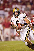 Vanderbilt Commodores quarterback Jay Cutler looks to pitch the ball during a 28 to 24 win over the Arkansas Razorback on September 10, 2005 at Donald W. Reynolds Stadium in Fayetteville, Arkansas..Mandatory Credit: Wesley Hitt/Icon SMI