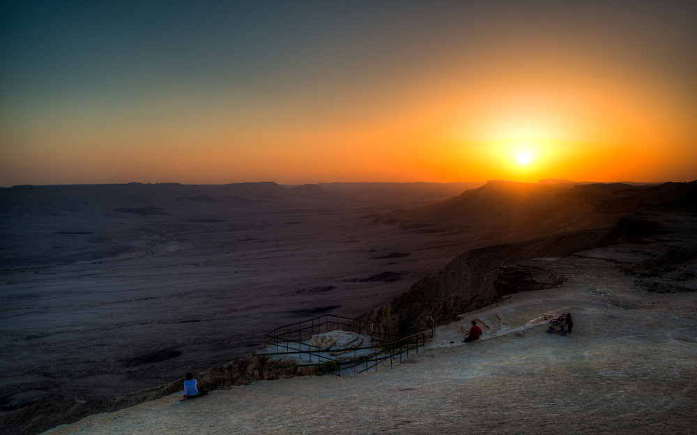 Sunset at the Ramon Crater shot from the Camel Mountain