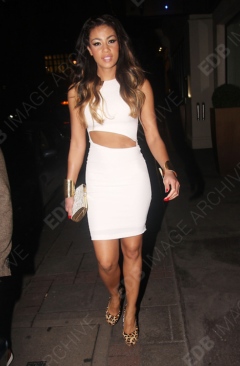 08.FEBRUARY.2012. LONDON<br /> <br /> LOUISE GLOVER CELEBRATES HER BIRTHDAY WITH LAYLA FLAHERTY AT THE MAYFAIR HOTEL IN CENTRAL LONDON<br /> <br /> BYLINE: EDBIMAGEARCHIVE.COM<br /> <br /> *THIS IMAGE IS STRICTLY FOR UK NEWSPAPERS AND MAGAZINES ONLY*<br /> *FOR WORLD WIDE SALES AND WEB USE PLEASE CONTACT EDBIMAGEARCHIVE - 0208 954 5968*