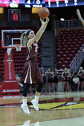 01 November 2017: Hayley Reneau attempts a 3 point shot during a Exhibition College Women's Basketball game between Illinois State University Redbirds the Red Devils of Eureka College at Redbird Arena in Normal Illinois.