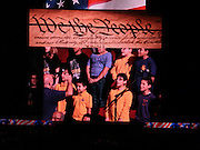 Lyons ES students sing the national anthem at the Houston Aeros home game on Sunday, Nov. 25.<br /> To submit photos for inclusion in eNews, send them to hisdphotos@yahoo.com.