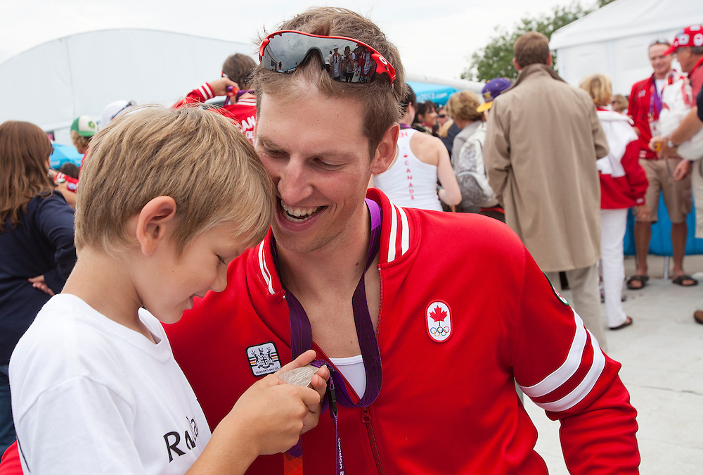 Rowing Canada London Olympics 2012 family friends fans celebration photo
