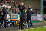 Paul Heckingbottom, manager of Hibernian FC during the Ladbrokes Scottish Premiership match between Hibernian and Rangers at Easter Road, Edinburgh, Scotland on 8 March 2019.