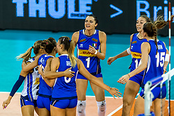 11-08-2018 NED: Rabobank Super Series Italy - Russia, Eindhoven<br /> Russia defeats Italiy with 3-0 and goes to the final on sunday / Serena Ortolani #1 of Italy, Elena Pietrini #14 of Italy