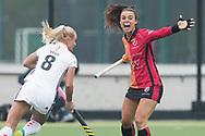 Eindhoven - Oranje Rood - Amsterdam  Dames, 1e ronde Playoffs, Eerste wedstrijd, Hoofdklasse Hockey Dames, Seizoen 2017-2018, 29-04-2018, Oranje Rood - Amsterdam 0-3,  Marlena Rybacha (Oranje-Rood)<br /> <br /> (c) Willem Vernes Fotografie